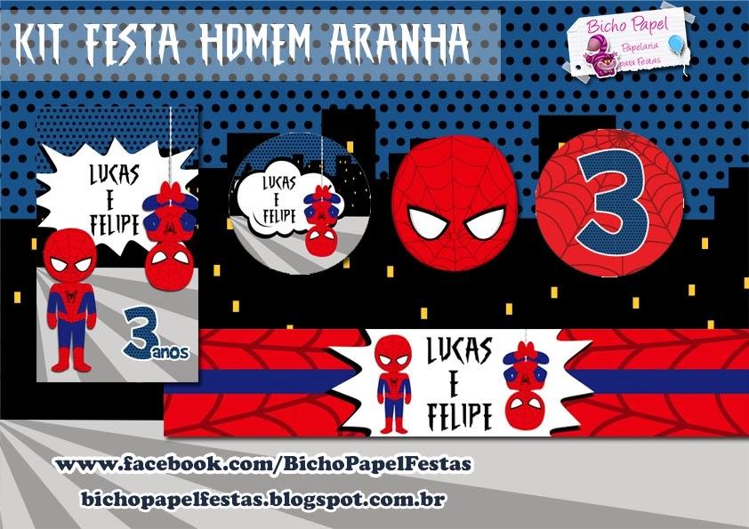 Casinha De Crianca Kit Festa Homem Aranha Para Imprimir Gratis