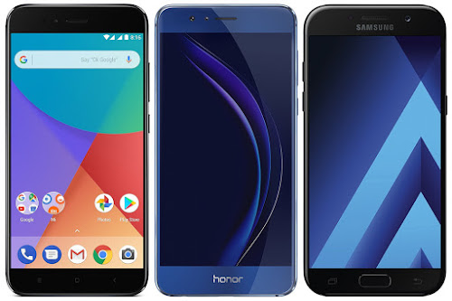 Xiaomi Mi A1 32G vs Honor 8 vs Samsung Galaxy A5 (2017)
