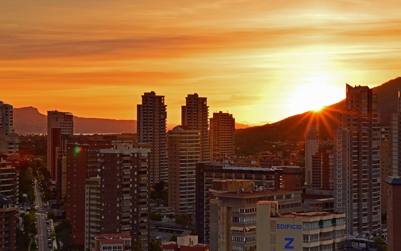Benidorm Wschód słońca Sunrise