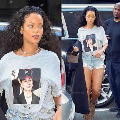 Rihanna steps out in a Hillary Clinton T-shirt in NYC