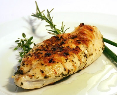Roasted, Well-Seasoned, Boneless Chicken Breast