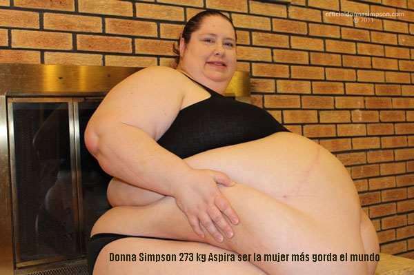 Donna Simpson 273 kg Aspira ser la mujer más gorda el mundo