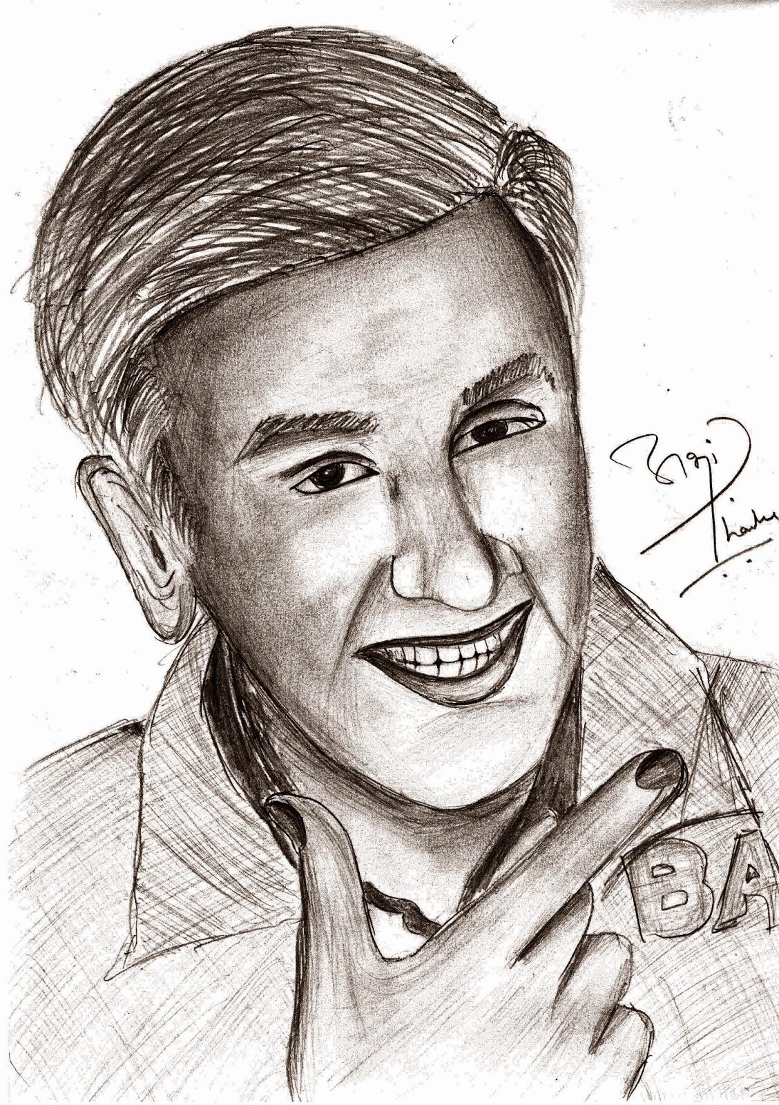 Ranbir Kapoor Sketch by Abhshek Thamke