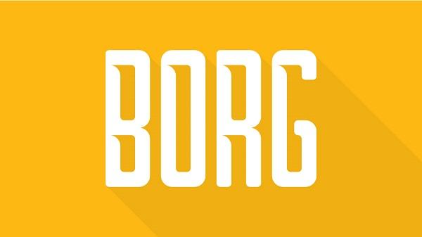 Download Font Terbaru dan Terbaik Januari 2016 - BORG Free Font