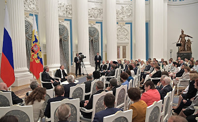 Meeting with Civic Chamber members of the Russian Federation in the Kremlin.