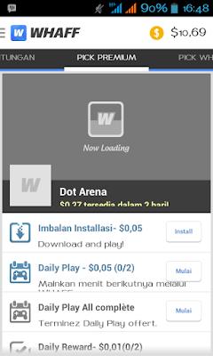 Instalasi Whaff Rewards - Aplikasi Penghasil Dollar