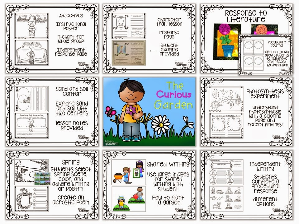 https://www.teacherspayteachers.com/Product/The-Curious-Garden-Literature-Unit-247973