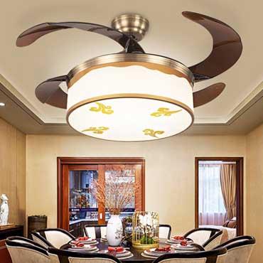 Mách bạn cách chọn đèn chùm quạt trần cho phòng khách cực chuẩn