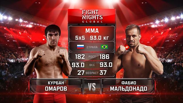 Фабио Мальдонадо vs Курбан Омаров