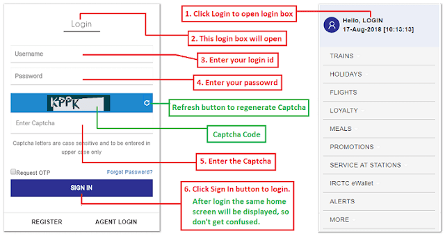 Solution For IRCTC Login ID And IRCTC Account Login Problems