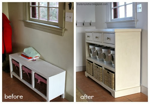 mudroom entry before and after