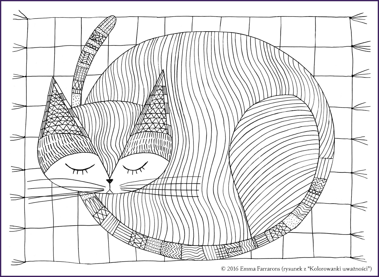 Mindfulness Drawing Sketch Coloring Page