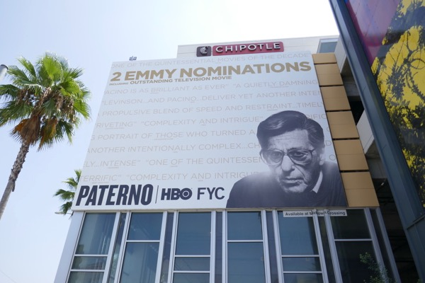 Paterno HBO 2018 Emmy nominee billboard