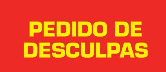 Pedido De Desculpas: PEDIDO DE DESCULPAS DA IGREJA BETESDA