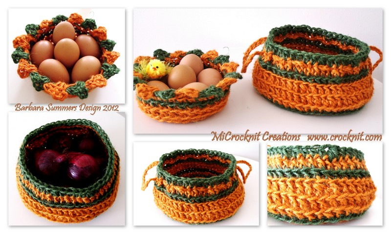 Microcknit Creations Easter Crochet Baskets