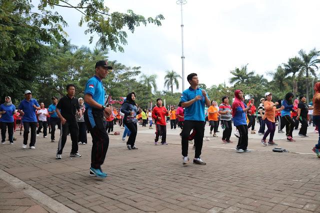 Gandeng Seluruh Element Masyarakat, TNI-POLRI, Pemkab Trenggalek Turut Berpartisipasi Upaya Pemecahan Guinness World Record Poco-Poco