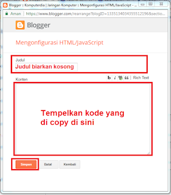 Cara Membuat Menu Navigasi Simple Dropdown Di Blog