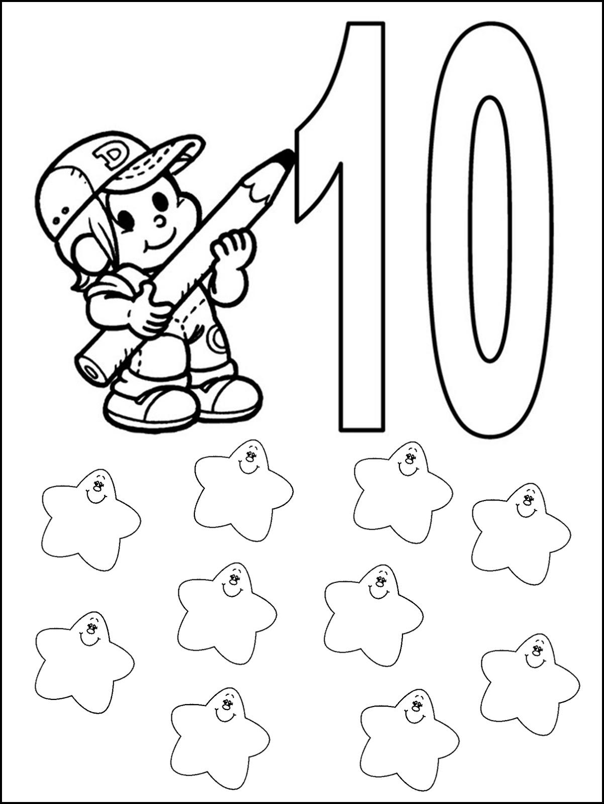Pequenos Grandes Pensantes Atividades Com Numeros De 0 Ate 10