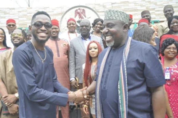 ROCHAS OKOROCHA REWARDS MIRACLE,NINA WITH N2M LAND IN IMO STATE