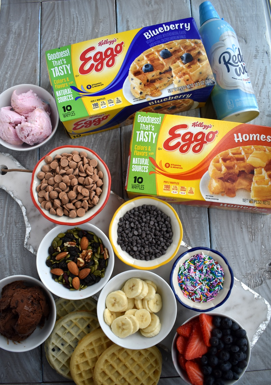 Easy dessert waffle bar toppings