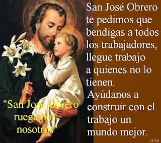 Resultado de imagen para San José y el trabajo