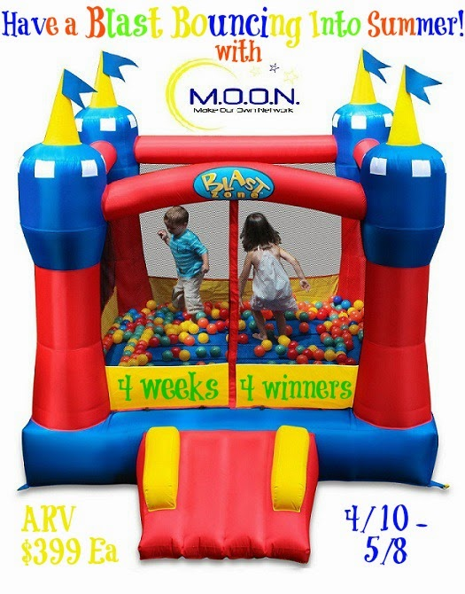 Enter to win 1 of 4 bounce houses in the Have a Blast Bouncing into Summer Giveaway. Ends 5/8.
