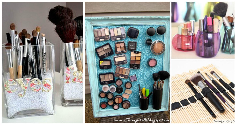 7 ideas muy originales para guardar todo tipo de maquillaje belleza y peinados - Muebles para organizar ...