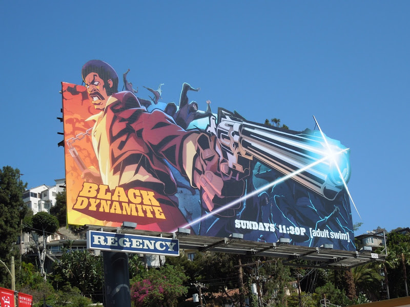 Black Dynamite Adult Swim billboard