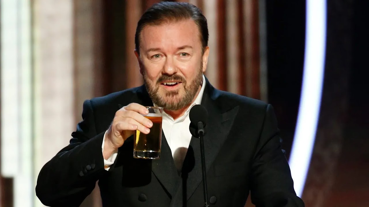 Ricky Gervais tira sarro da Marvel e de Martin Scorsese durante o Globo de Ouro 2020