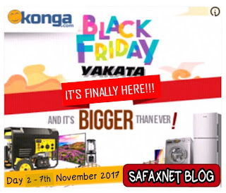 Konga Black Friday Day 2 Yakata Deals November 7th 2017