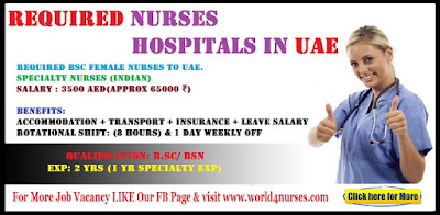 Required BSC Female Nurses to Hospitals in UAE