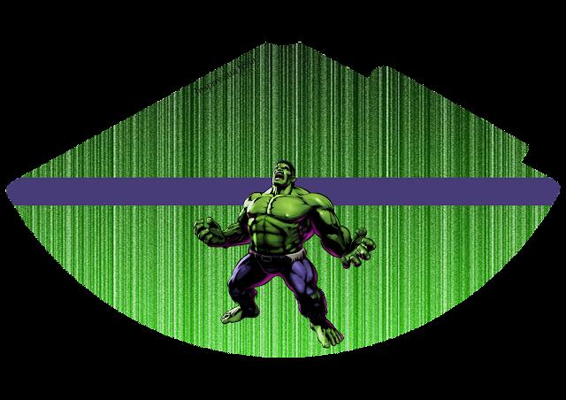 Gorros para imprimir gratis deFiesta del Increíble Hulk.