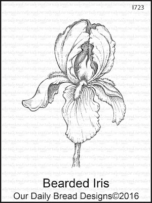 Our Daily Bread Designs Stamp: Bearded Iris