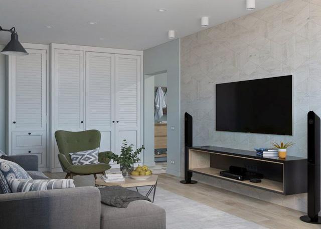 Thiết kế căn hộ 84m2 - Ảnh 2
