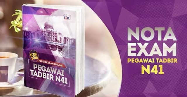 Rujukan dan Nota Peperiksaan Pegawai Tadbir Negeri Johor N41 2018