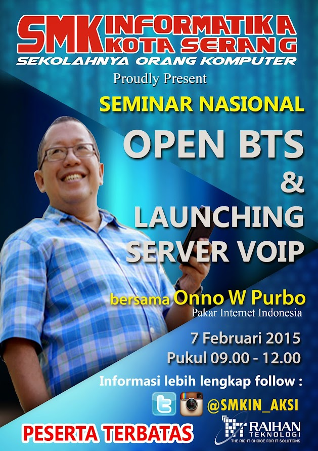 Seminar Nasional Open BTS With Onno W. Purbo