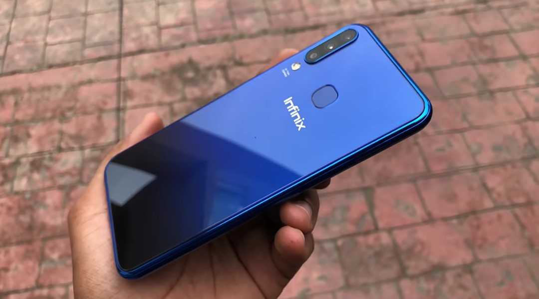 Infinix Hot S4 color variations - Nebula Blue color