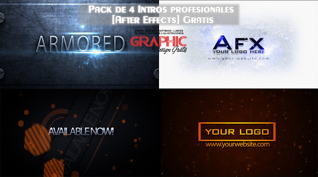 Pack de 4 Intros editables profesionales [After Effects] Gratis