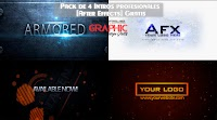 Pack de 4 Intros editables profesionales [After Effects] Gratis