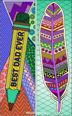 Father's Day Coloring Bookmarks