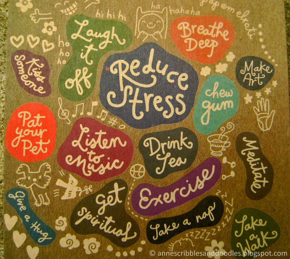 Papemelroti Postcard: Reduce Stress. Laugh it Off.