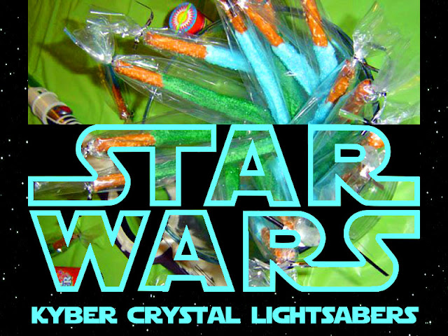 Star Wars Kyber Crystal Lightsabers Party Food Recipe and Label