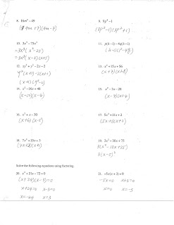 Jiazhen's Algebra I: Chapter Test Review Sheet Answers