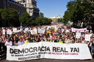 Manifestación en Madrid reclamando otra democracia