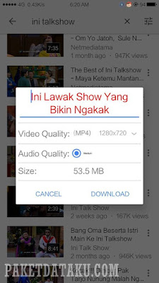 Cara Download Video Youtube Android