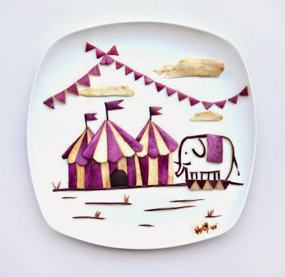 Arte en platos de comida