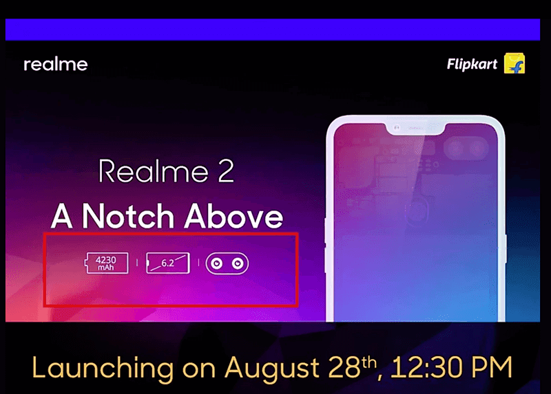 Realme 2 to launch with 6.2-inch display, Snapdragon 450 SoC, and a 4,230 mAh battery