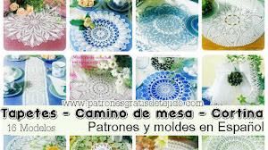 16 Tapetes, camino de mesa y cortinas crochet / Moldes e instrucciones en español