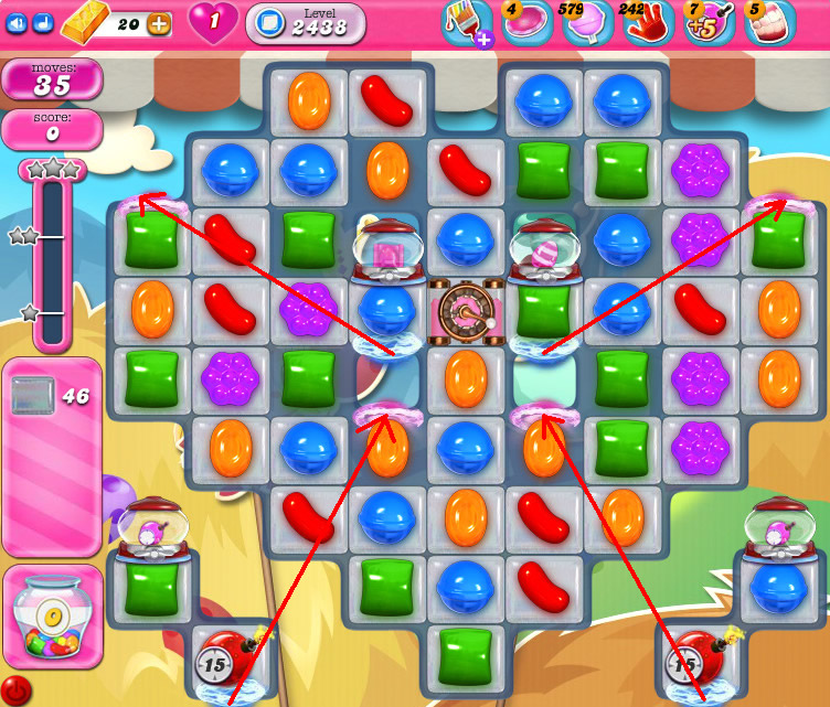 Candy Crush Saga level 2438