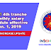 Fourth Tranche Monthly Salary Schedule Effective January 1, 2019